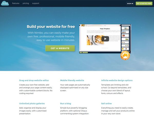 Nimbo Website Builder - Recent work