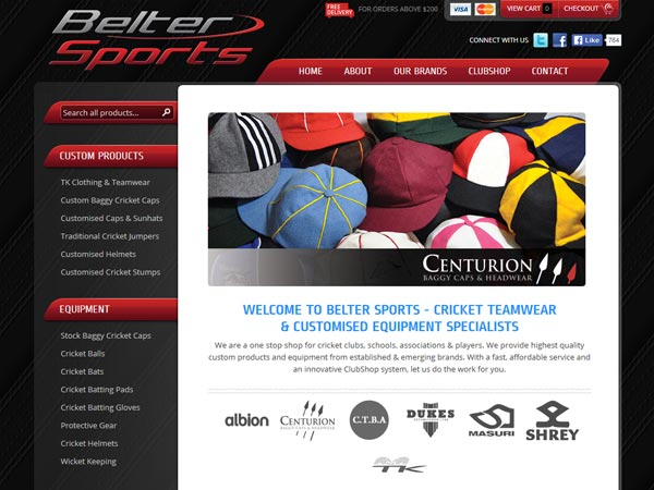 Belter Sports - Design  · Content management system  · E-commerce  · Custom functions